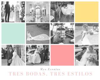Tres bodas, tres estilos