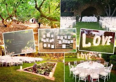 Un boda civil entre frutales
