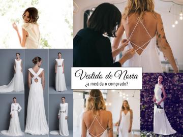 El vestido de novia, ¿a medida o comprado?