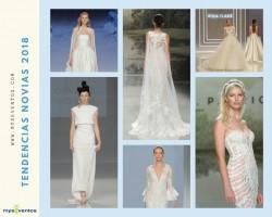 Así serán las novias 2018 según lo visto en la Barcelona Bridal Week