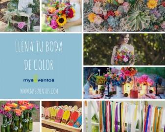 Cómo llenar tu boda de color en 5 pasos