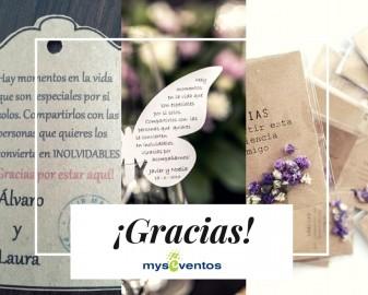 Agradecimientos tras la boda