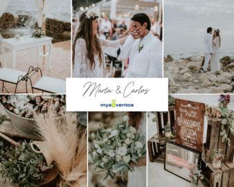 Una boda íntima llena de detalles: Marta y Carlos