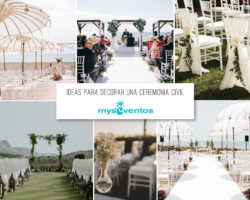Ideas para decorar una ceremonia civil
