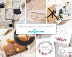 5 ideas originales para invitaciones de boda