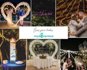 Decoración luminosa para bodas