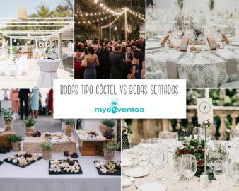 Bodas tipo cóctel o bodas sentados