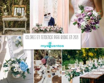 Colores en tendencia para bodas de 2021