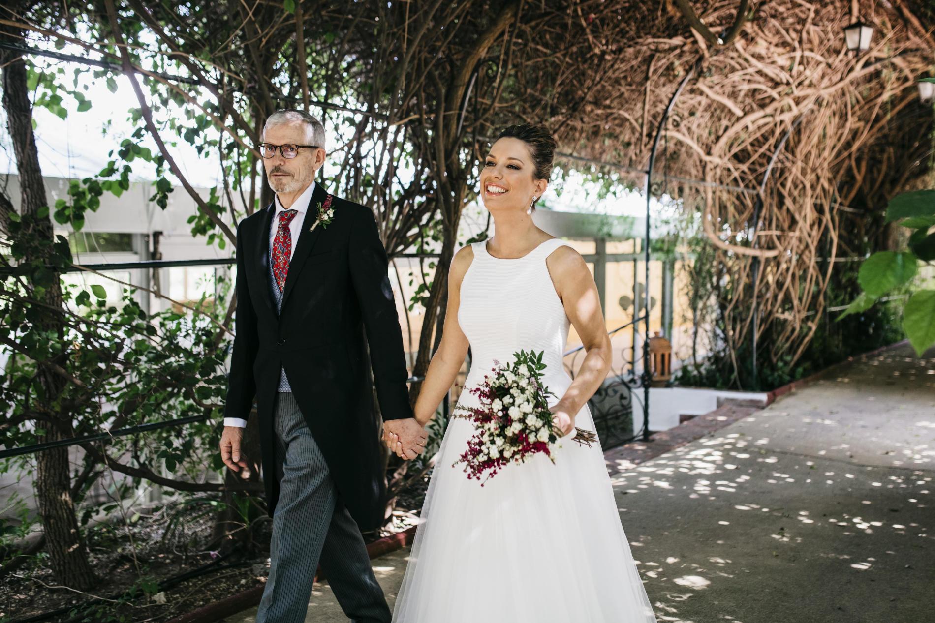 Boda en tiempos de COVID-19: Marina y Ramón - ramo de novia